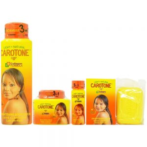 CaroTone Set-1 (Lotion 18.6oz + Cream 11.1oz + Oil 2.2oz + Soap 6.7oz)