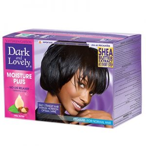 Dark and Lovely Moisture Plus No-Lye Relaxer Kit Regular