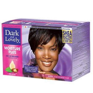 Dark and Lovely Moisture Plus No-Lye Relaxer Kit Super
