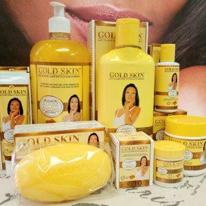 Gold Skin Lightening 7-Piece Face & Body Kit With Argan Oil