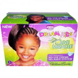 African Pride Dream Kids Olive Miracle Anti-Breakage Relaxer System [Coarse]