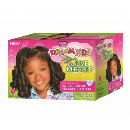 African Pride Dream Kids Olive Miracle Anti-Breakage Relaxer System [Regular]