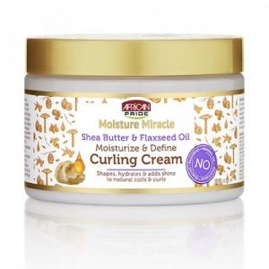 African Pride Moisture Miracle Curl Cream, Hydrate & Strengthen 12oz