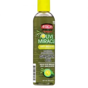 African Pride Olive Miracle Anti-Breakage Formula Growth Oil, 8 oz (237ml)