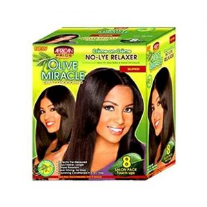 African Pride Olive Miracle Deep Conditioning No Lye Relaxer 8 Touch-Up [Coarse]