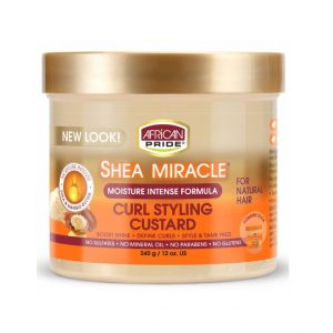 African Pride Shea Butter Miracle Curl Custard Styling, 12 oz (340g)