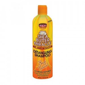 African Pride Shea Butter Miracle Detangling Shampoo, 12 oz (355ml)