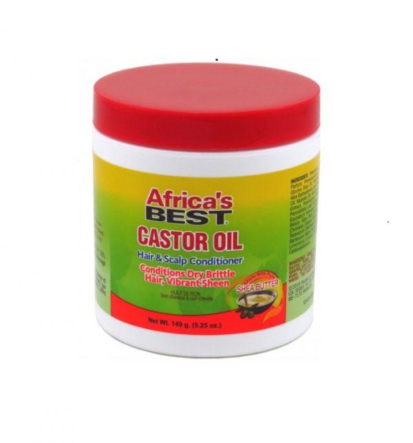 Africa's Best Castor Oil Hair & Scalp Conditioner, 5.25 oz (149g)