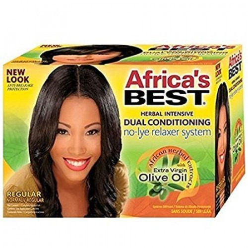 Africa's Best Herbal Intensive Dual Conditioning No-Lye Relaxer System [Regular]