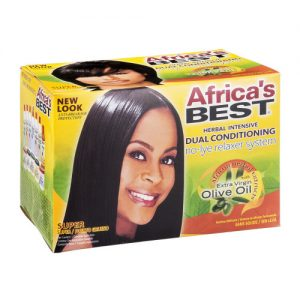 Africa's Best Herbal Intensive Dual Conditioning No-Lye Relaxer System [Super]