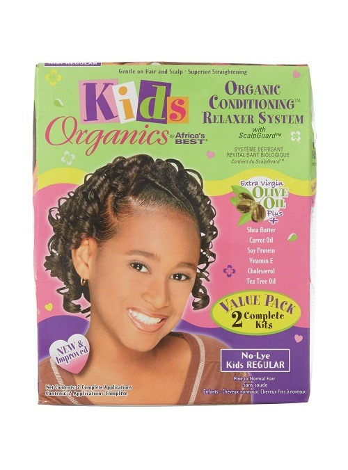 Africa's Best Kids Organics Organic Conditioning Relaxer System No-Lye Value Pack [Regular]