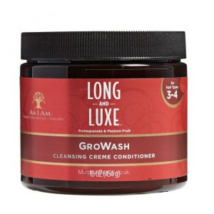 As I Am Long & Luxe Gro Wash Cleansing Creme Conditioner
