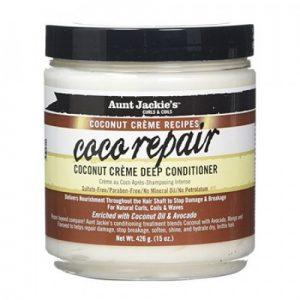 Aunt Jackie's Curls & Coils Coconut Creme Recipes Coco Repair, Coconut Creme Deep Conditioner