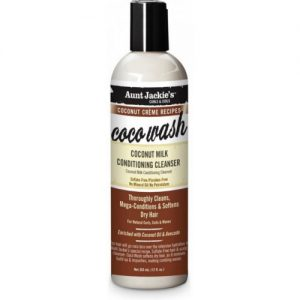 Aunt Jackie's Curls & Coils Coconut Creme Recipes Coco Wash, Coconut Milk Conditioning Cleanser, 12oz (355ml)