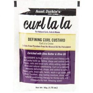 Aunt Jackie's Curls & Coils Curl La La, Defining Curl Custard, 1.75oz (50g)