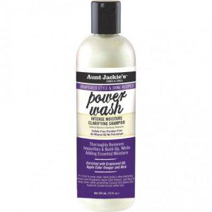 Aunt Jackie's Curls & Coils Power Wash, Intense Moisture Clarifying Shampoo