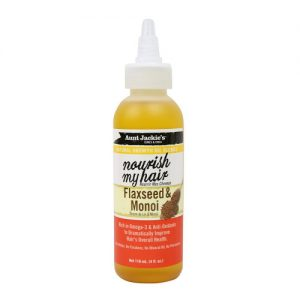 Aunt Jackie's Natural Growth Oil Nourish My Hair, Enriched With Flaxseed & Monoi Extracts, 4oz (118ml)