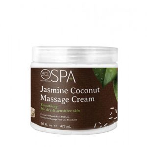 BCL SPA Jasmine Coconut Massage Cream, 16oz