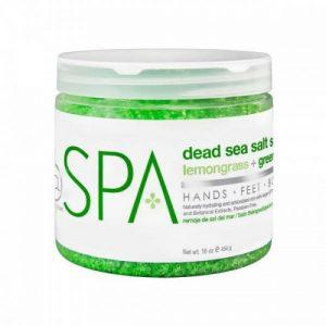 BCL SPA Lemongrass + Green Tea Dead Sea Salt Soak, 16oz
