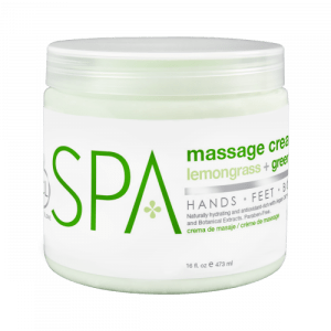 BCL SPA Lemongrass + Green Tea Massage Cream, 16oz