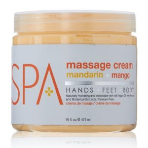BCL SPA Mandarin + Mango Massage Cream, 16oz