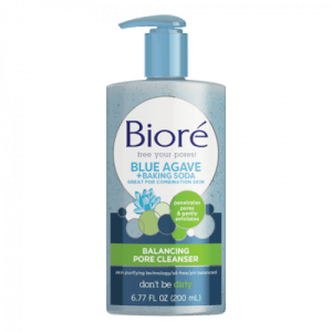 Biore Blue Agave + Baking Soda Balancing Pore Cleanser, 6.77oz