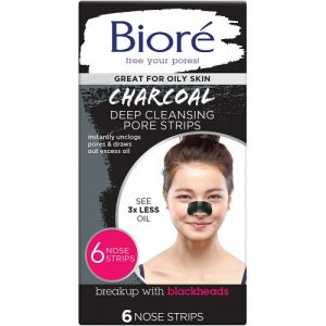 Biore Charcoal Deep Cleansing Pore Strips [6 Nose Strips]
