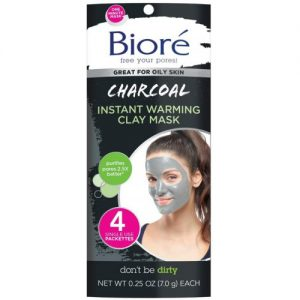Biore Charcoal Instant Warming Clay Mask, 7.0g
