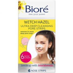 Bioré Witch Hazel Ultra Deep Cleansing Pore Strips [6 Nose Strips]