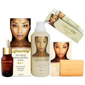 Lighten-Up Anti-Ageing 4-pc Set (Lotion, Serum, Soap & Gel)