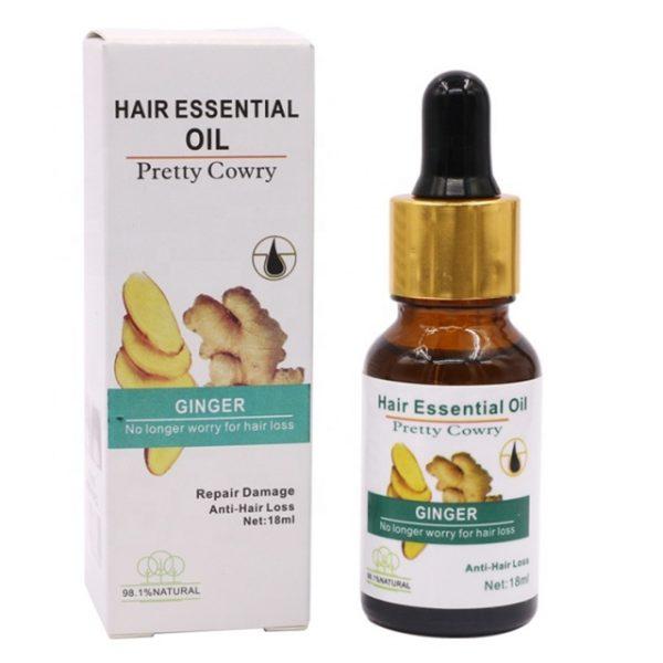 Pretty Cowry Repair Damage Anti Hair Loss Ginger Essential Oil 18ml